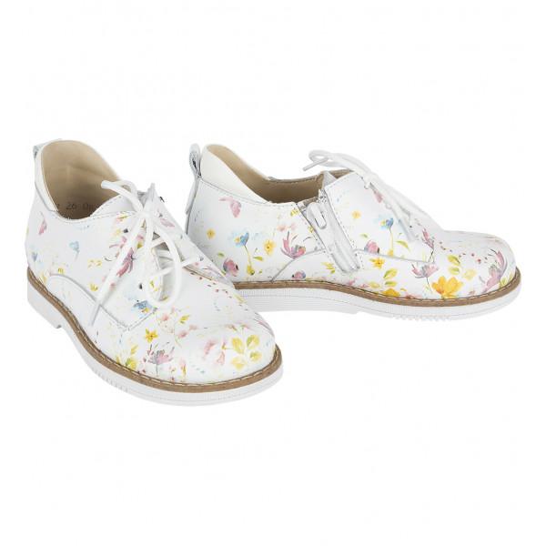 Полуботинки детские TAPIBOO 24001 белый/цветы