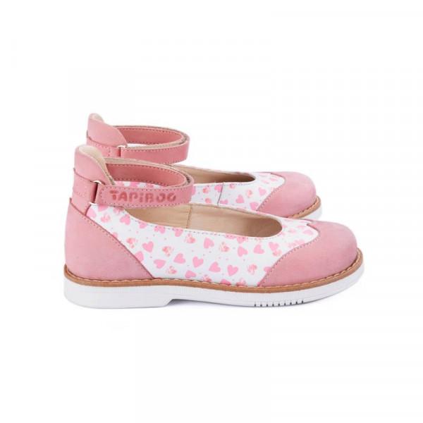 Туфли детские TAPIBOO 25001 ортопедические розовые/сердечки