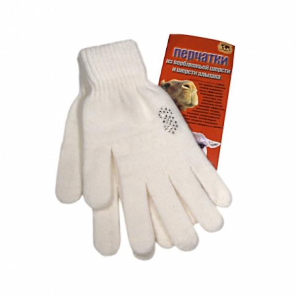 Перчатки из шерсти альпака согревающие