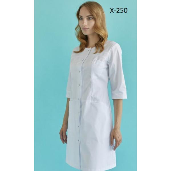 Медицинский халат Hippocrates Илона Х-250 белый